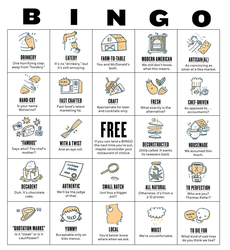 Restaurant bingo