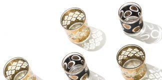 Gold-embellished glass